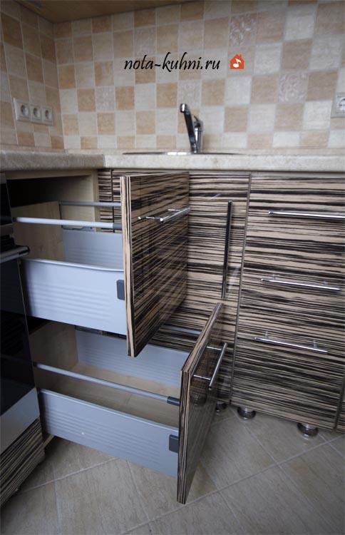 Кухни шпон дерева на заказ