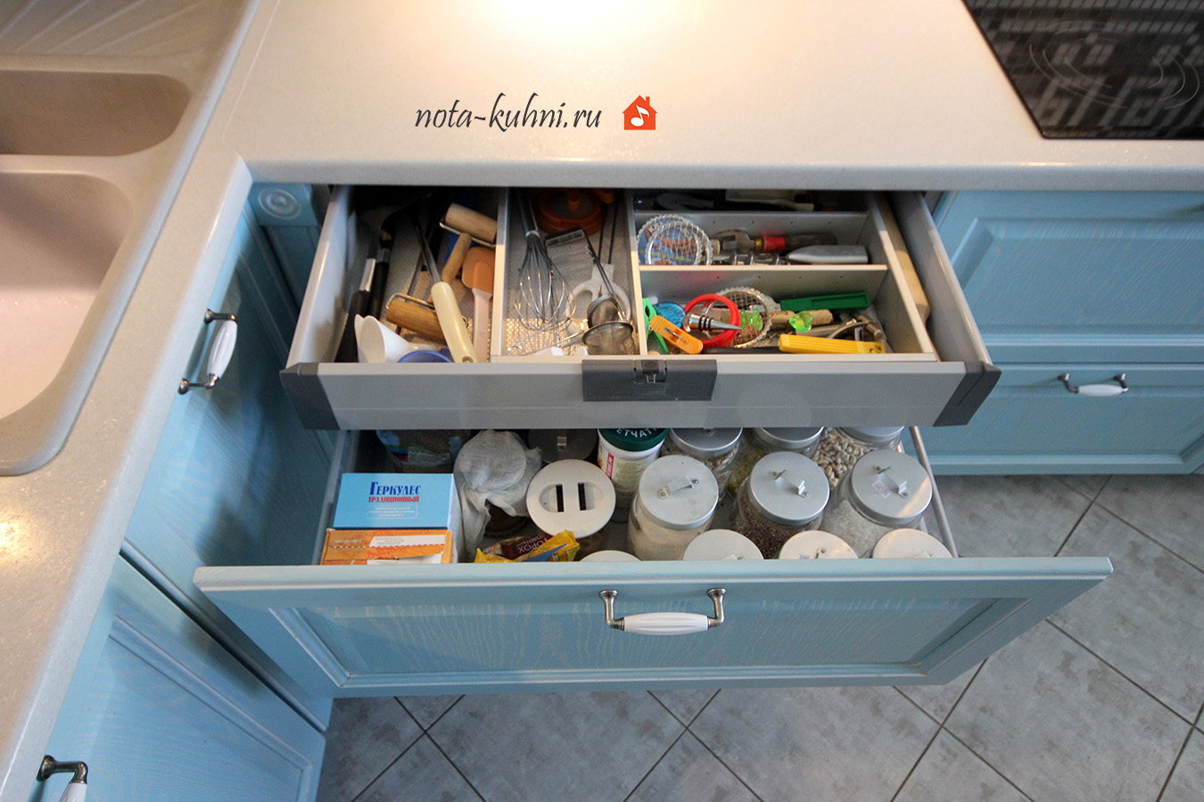 кухни с ящиками тандембокс blum