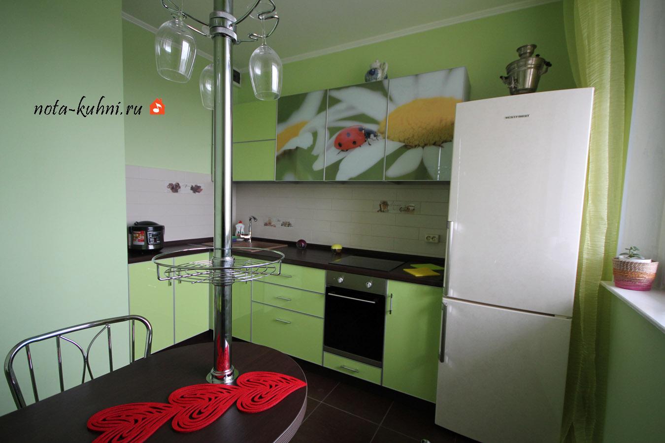 Кухни пластик с фотопечатью