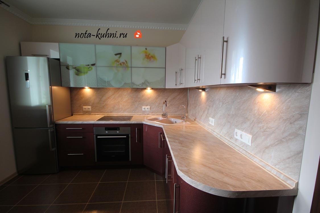 Кухни мдф эмаль с фотопечатью от производителя