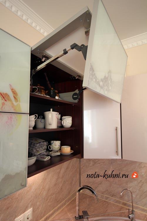 Кухня мдф эмаль с фотопечатью