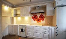 Кухни МДФ эмаль белый глянец