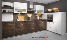 Кухня  мдф эмаль и шпон