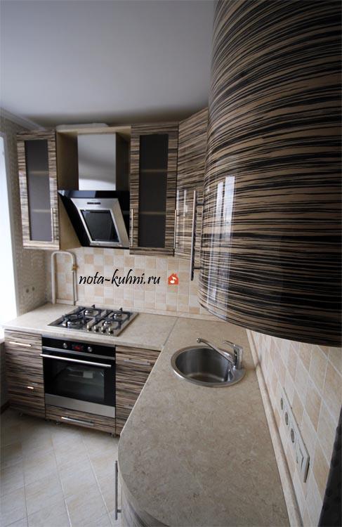 Кухни под шпоном недорого