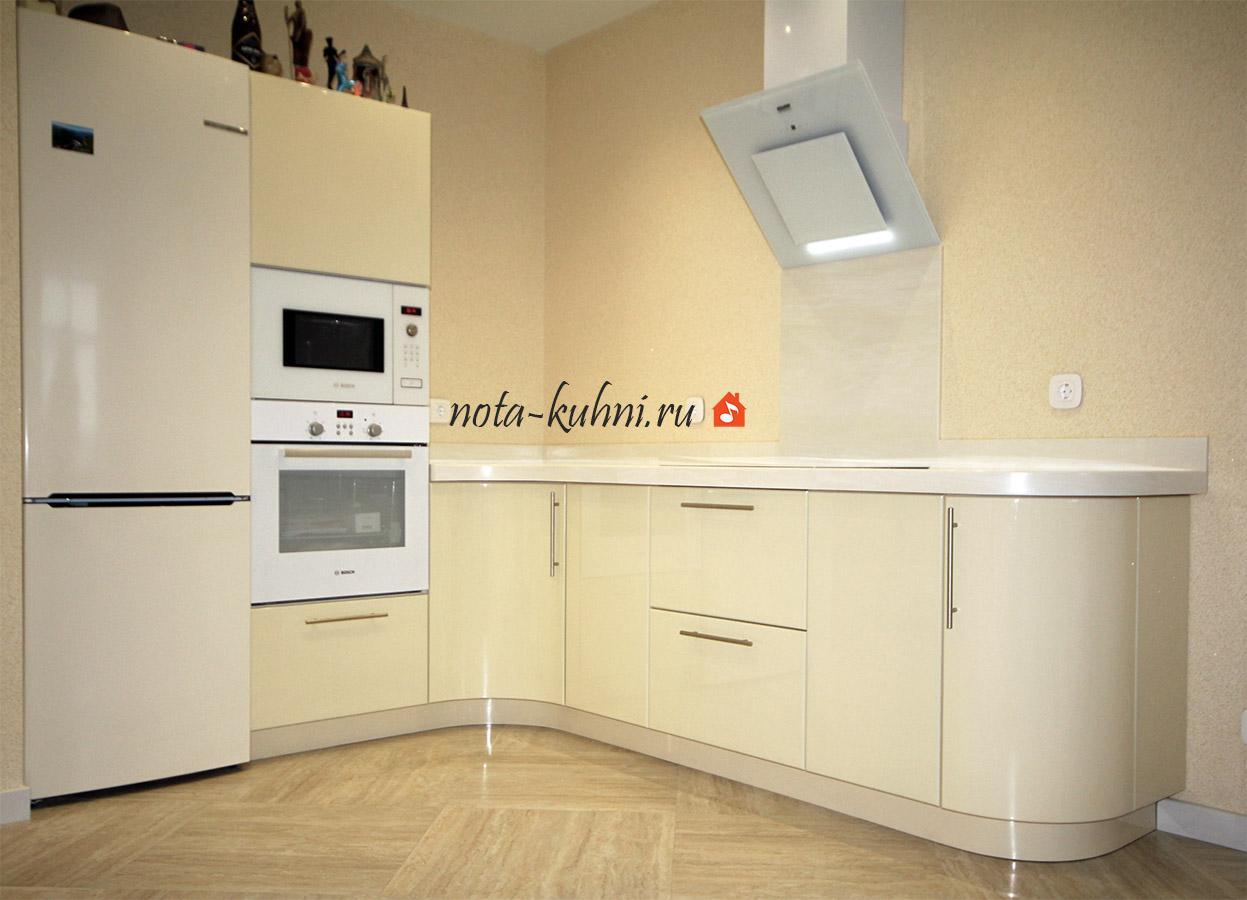 кухня МДФ под эмалью на заказ