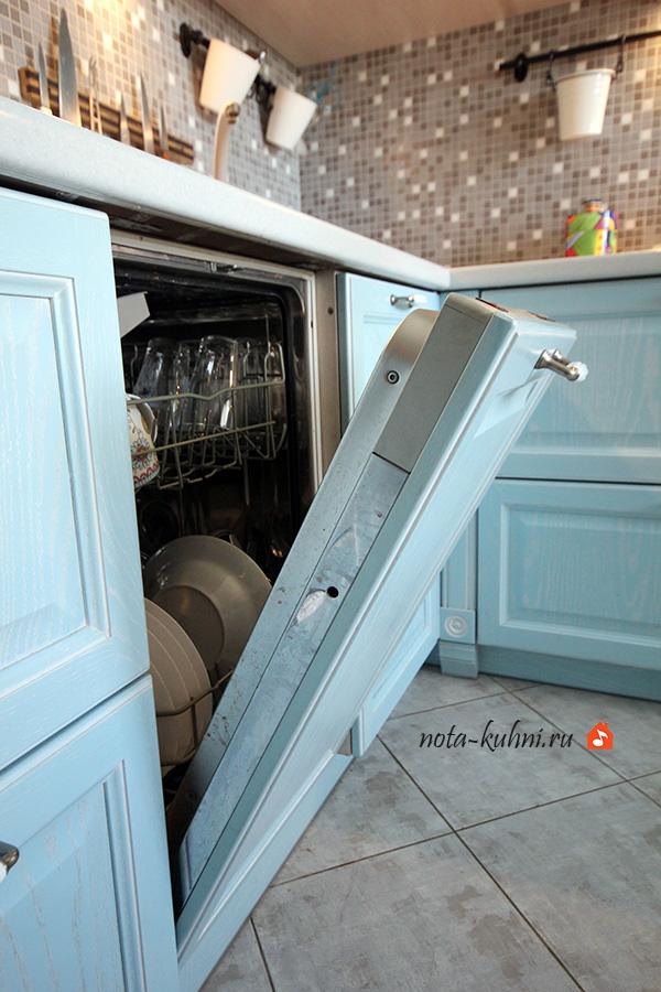 кухни со встроенной посудомоечной машиной