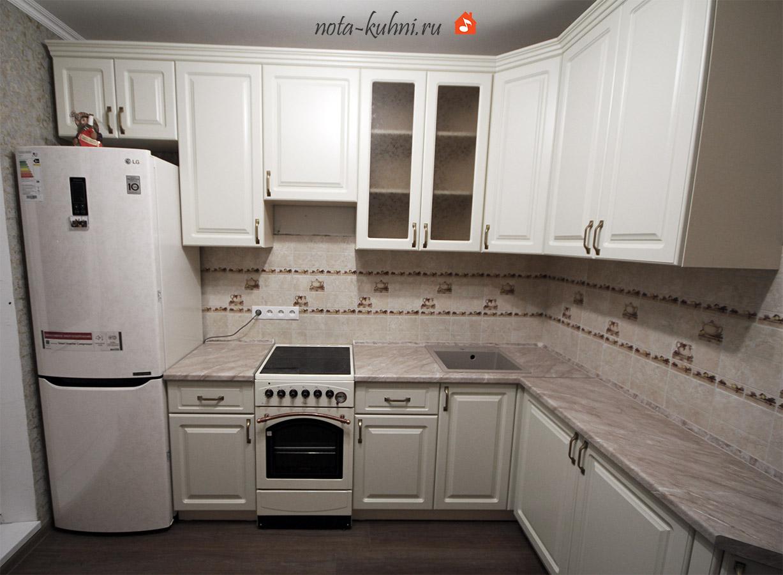 Кухни МДФ эмаль матовая в Бутово