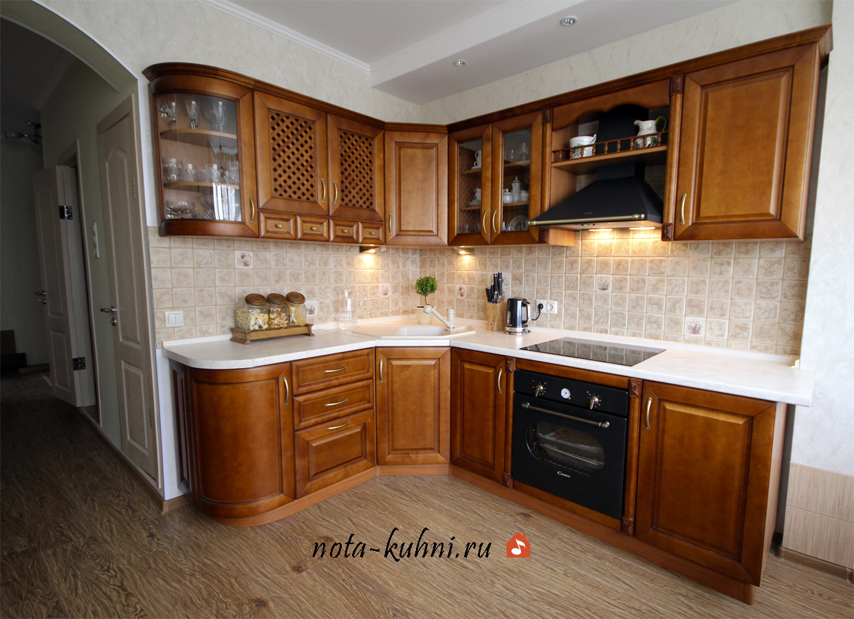 Деревянные кухни на заказ