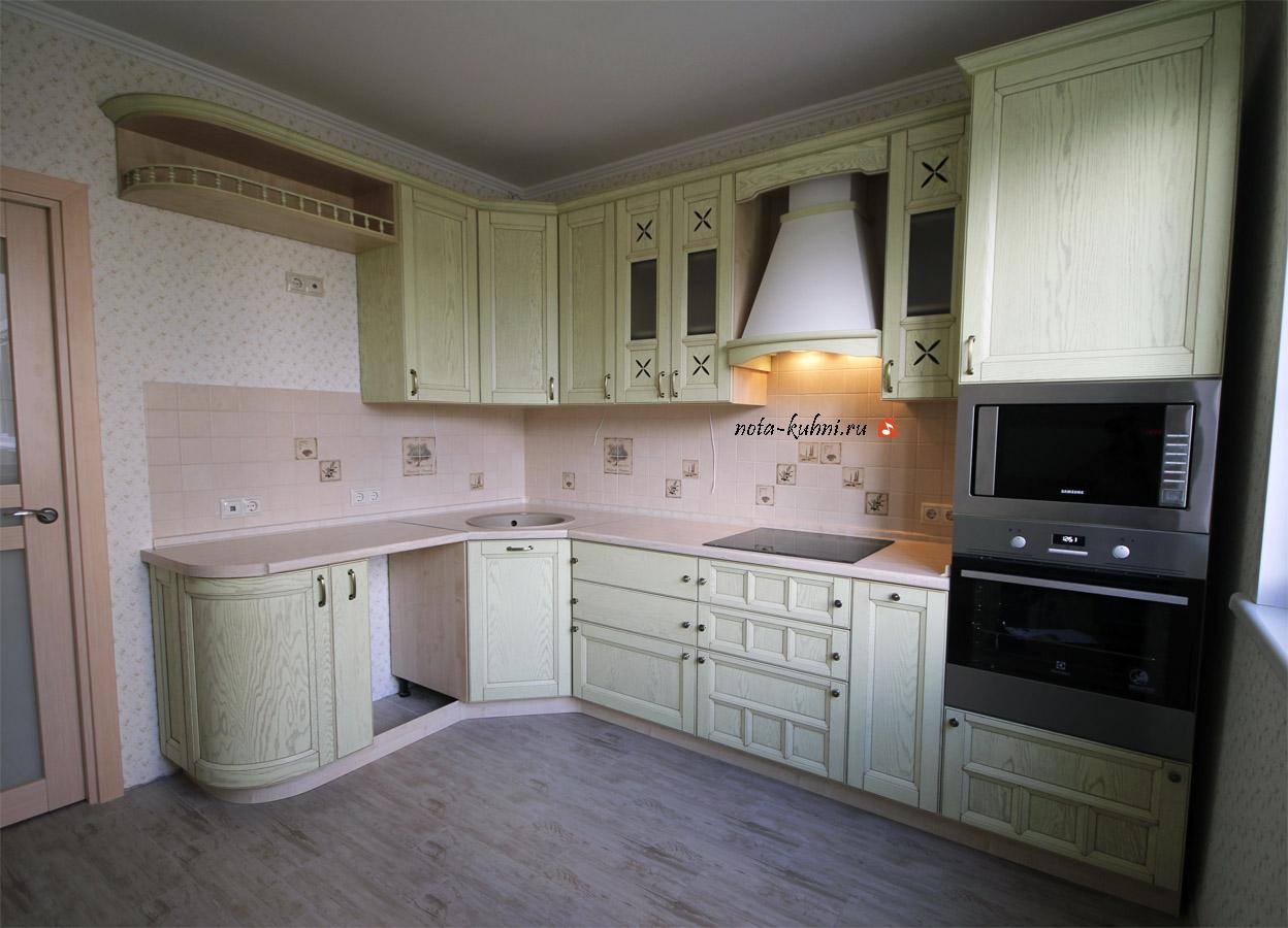 Кухни в стиле Прованс из дуба