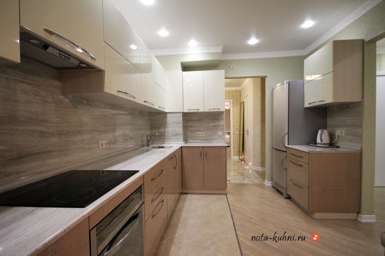 Кухня  мдф эмаль и шпон недорого